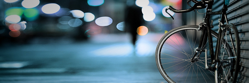 bike-and-blurry-street