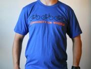 slow roll buffalo community on wheels mens t-shirt