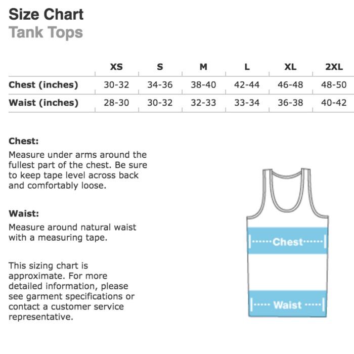 slow roll buffalo tank top size chart
