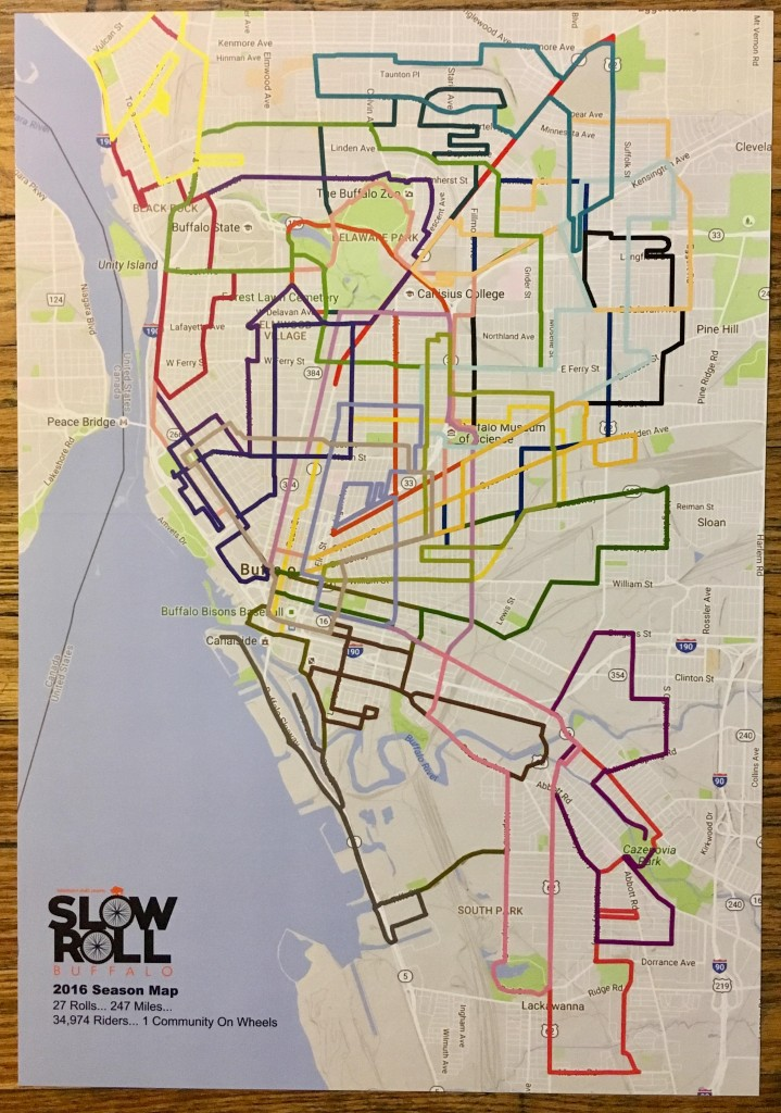 Ride Map Posters Now Available Slow Roll Buffalo - Us college map poster